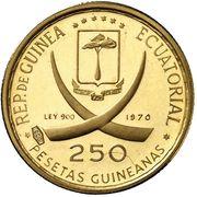 250 Pesetas Guineanas (Maja Desnuda) – avers