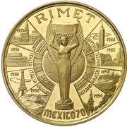 1000 Pesetas Guineanas (Coupe du monde de football Mexique 1970) – revers