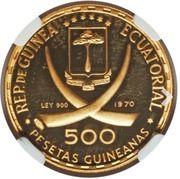 500 Pesetas Guineanas (Mahatma Gandhi) – avers