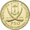 750 Pesetas Guineanas (Rome) – avers