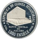 1000 Ekuele (Masie Nguema Biyogo) – avers