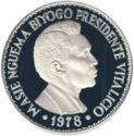 1000 Ekuele (Masie Nguema Biyogo) – revers