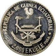 2000 Ekuele (Masie Nguema Biyogo) – avers