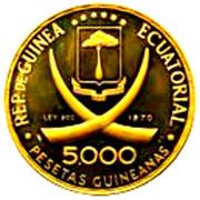 5000 Pesetas Guineanas - Francisco Macias – avers
