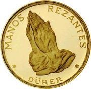 250 Pesetas (Mains en prière de Dürer) – revers