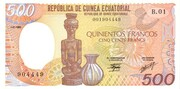 500 Francos/Francs – avers