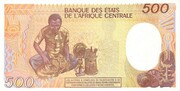 500 Francos/Francs – revers