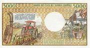 5000 Francos/Francs – revers