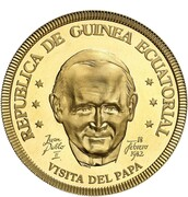 1 ekwele (Visite du pape Jean-Paul II) – avers