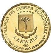 1 ekwele (Visite du pape Jean-Paul II) – revers