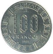 100 francos CFA (Essai) – revers