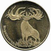 5 Dollars (Grand cerf des tourbières) – revers