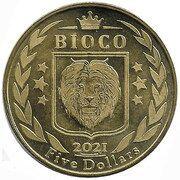 5 Dollars Cronopio (Bioko island) – avers