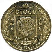 5 Dollars Coelodonta (Bioko island) – avers