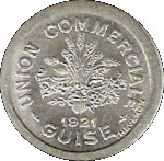 5 Centimes - Union Commerciale - Guise [02] – avers