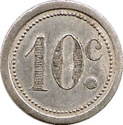 10 Centimes - Union commerciale - Guise [02] – revers