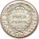 4 pence - George V – revers