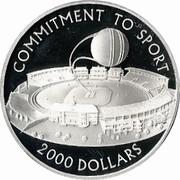 2000 dollars (Engagement envers le sport) – revers