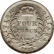 4 pence - George V – revers