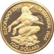 100 dollars (Indépendance) – revers