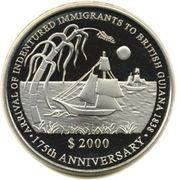 2000 dollars (Immigration sous contrat) – revers
