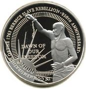 2000 dollars (Révolte d'esclaves à Berbice) – revers