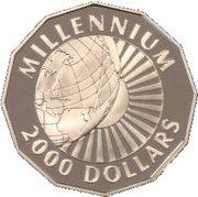 2000 dollars (Millénaire) – revers