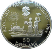 50 dollars (Visite royale) – revers