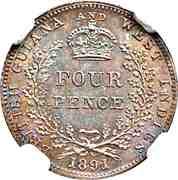 4 pence - Victoria – revers
