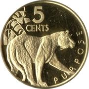 5 cents (Jaguar) – revers