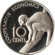 10 cents (Singe écureuil) – revers