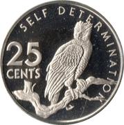 25 cents (Aigle harpie) – revers