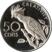 50 cents (Hoazin huppé) – revers
