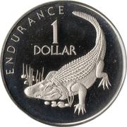 1 dollar (Caiman) – revers