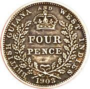 4 pence - Edward VII – revers