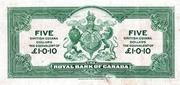 5 Dollars / 1 Pound 10 Pence – revers