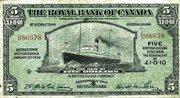 5 Dollars / 1 Pound 10 Pence – avers