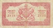 20 Dollars / 4 Pounds 3 Shillings 4 Pence – revers