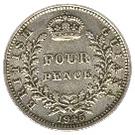 4 pence - George VI – revers