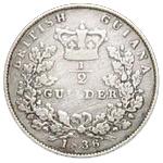 ½ guilder - William IV – revers