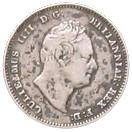 ¼ guilder - William IV – avers