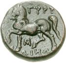 Bronze Æ18 (Gyrton) – revers