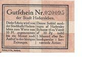 10 Pfennig (Hadersleben) – revers