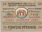50 Pfennig (Hadersleben) – avers
