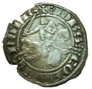 demi-gros au chevalier (Jean II d'Avesnes) – avers