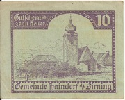 10 Heller (Haindorf a. d. Sirning) – avers