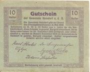 10 Heller (Haindorf a. d. Sirning) – revers