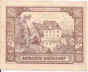 50 Heller (Haindorf a. d. Sirning) – avers