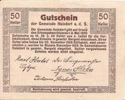 50 Heller (Haindorf a. d. Sirning) – revers