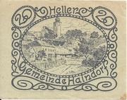 20 Heller (Haindorf a. d. Sirning) – avers